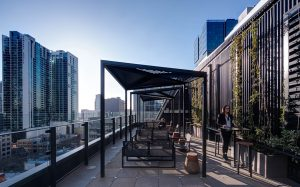 commercial workplace design outdoor terrace